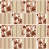 Abstrakcjonistycznej eleganci bezszwowy wzór z różami kwitnie tło Fotografia Stock