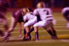abstrakcjonistycznej futbol działań zoom Obraz Stock