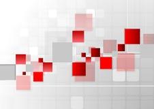 Abstrakcjonistycznej futurystycznej technologii czerwieni popielaty tło royalty ilustracja