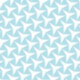 Abstrakcjonistycznej geometrii deco bława sztuka trzy wskazuje gwiazdowego wzór Obrazy Stock