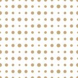Abstrakcjonistycznej geometrii deco sztuki halftone polki złocisty wzór ilustracji