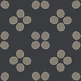 Abstrakcjonistycznej Geometrycznej guzik kropki siatki wektoru Bezszwowy wzór ilustracja wektor