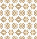 Abstrakcjonistycznej geometrycznej złocistej deco sztuki poduszki gwiazdowy wzór ilustracja wektor