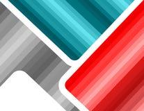 Abstrakcjonistycznej gradaci szablonu futurystyczny stubarwny tło Szarość, błękitni czerwoni kolory Obrazy Royalty Free