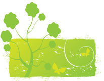 abstrakcjonistycznej jesień ilustracyjny wiosna drzewo Obrazy Stock