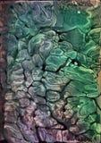 Abstrakcjonistycznej kolorowej pozaziemskiej akwareli tekstury akrylowy tło ilustracji