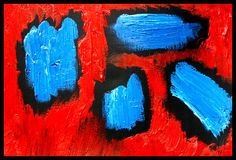abstrakcjonistycznej kropli sztuki Obraz Royalty Free