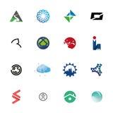 Abstrakcjonistycznej logo ikony Ustalona kolekcja Zdjęcia Royalty Free