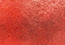 Abstrakcjonistycznej Luksusowej Błyszczącej Czerwonej brzmienie ściany podłoga płytki mozaiki tła Szklana Bezszwowa Deseniowa tek Fotografia Royalty Free
