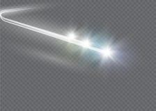 Abstrakcjonistycznej magii łuny gwiazdy lekki skutek z neonową plamą wyginającą się wykłada Iskrzasty pył gwiazdy ślad z bokeh Obrazy Royalty Free