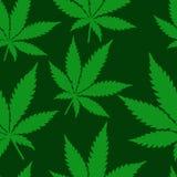 Abstrakcjonistycznej marihuany Bezszwowy wzór Zdjęcie Stock