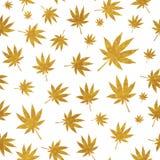 Abstrakcjonistycznej marihuany tła Bezszwowy Deseniowy wektor Illustratio royalty ilustracja