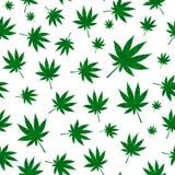 Abstrakcjonistycznej marihuany tła Bezszwowy Deseniowy wektor Illustratio ilustracji