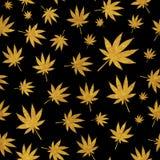 Abstrakcjonistycznej marihuany tła Bezszwowy Deseniowy wektor Illustratio ilustracja wektor