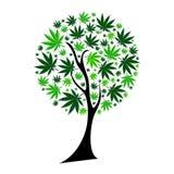 Abstrakcjonistycznej marihuany tła Drzewny wektor ilustracji