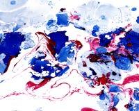Abstrakcjonistycznej marmoryzaci kolorowy tło Zdjęcia Stock
