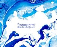 Abstrakcjonistycznej marmoryzaci tła wektorowy błękit i biel Fotografia Royalty Free