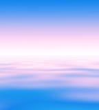 Abstrakcjonistyczny horyzont wody tło Zdjęcia Stock