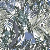 Abstrakcjonistycznej natury bezszwowa deseniowa ręka rysująca Etniczny ornament, kwiecisty druk, tekstylna tkanina, botaniczny el ilustracji