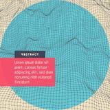 Abstrakcjonistycznej nauki lub technologii tło Okładkowy projekta szablon Sieci ilustracja 3D siatki powierzchnia ilustracji