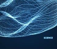 Abstrakcjonistycznej nauki lub technologii tło projekt graficzny Sieci ilustracja z cząsteczką Obraz Stock