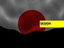 Abstrakcjonistycznej nauki lub technologii tło Sieci ilustracja z cząsteczką 3D siatki powierzchnia royalty ilustracja