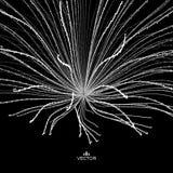 Abstrakcjonistycznej nauki lub technologii tło Szyk Z Dynamicznymi cząsteczkami Obrazy Royalty Free