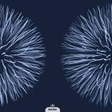 Abstrakcjonistycznej nauki lub technologii tło Szyk Z Dynamicznymi cząsteczkami Zdjęcia Royalty Free