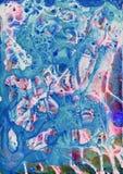 Abstrakcjonistycznej neonowej jaskrawej akwareli tekstury akrylowy tło zdjęcie stock