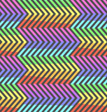 Abstrakcjonistycznej neonowej kontrast tęczy zygzakowaty wzór ilustracja wektor