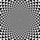 Abstrakcjonistycznej okrąg spirali Czarny I Biały tło Zdjęcia Royalty Free