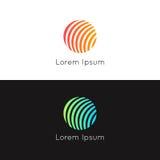 Abstrakcjonistycznej okrąg sfery ikony znaka firmy loga wektoru round desig Zdjęcie Royalty Free