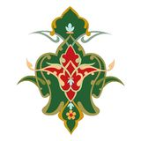 Abstrakcjonistycznej orientalnej mozaiki dekoracyjny kolorowy świat Ornamentuje grafikę royalty ilustracja