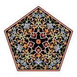 Abstrakcjonistycznej orientalnej mozaiki dekoracyjny kolorowy świat Ornamentuje grafikę ilustracji