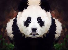 Abstrakcjonistycznej pandy niska poli- tapeta Fotografia Royalty Free