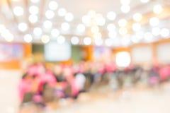 Abstrakcjonistycznej plamy Biznesowa konferencja i prezentacja fotografia stock