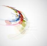 Abstrakcjonistycznej plamy informatyki biznesowy związek Fotografia Royalty Free