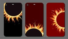 Abstrakcjonistycznej plamy jaskrawy czerwony tło dla telefonu komórkowego ekranu i pokrywy Obraz Stock