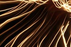 Abstrakcjonistycznej plamy lekkie linie na ciemnym tle Obrazy Royalty Free