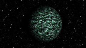 Abstrakcjonistycznej planety pętli bezszwowy obracanie royalty ilustracja