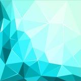 Abstrakcjonistycznej poligonalnej geometrycznej fasety tła błyszcząca Turkusowa ilustracja Obraz Stock