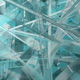 abstrakcjonistycznej rozbite teal sztuki Fotografia Royalty Free
