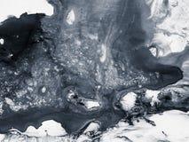 Abstrakcjonistycznej sztuki czarny i biały tło, tekstura obraz Obraz Royalty Free