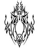 abstrakcjonistycznej sztuki czerń plemienny biel Zdjęcie Royalty Free