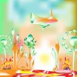 abstrakcjonistycznej sztuki fantazi ilustracja Obrazy Stock