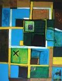 abstrakcjonistycznej sztuki grafiki nowożytny oryginał Obraz Stock