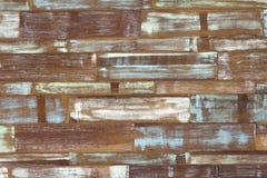 Abstrakcjonistycznej sztuki koloru drewna ściany biała błękitna zieleń Zdjęcie Royalty Free