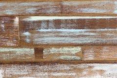 Abstrakcjonistycznej sztuki koloru drewna ściany biała błękitna zieleń Zdjęcia Stock