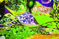 abstrakcjonistycznej sztuki koloru farba Obrazy Royalty Free