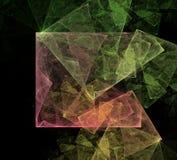 Abstrakcjonistycznej sztuki Kubiczna przestrzeń Fotografia Stock
